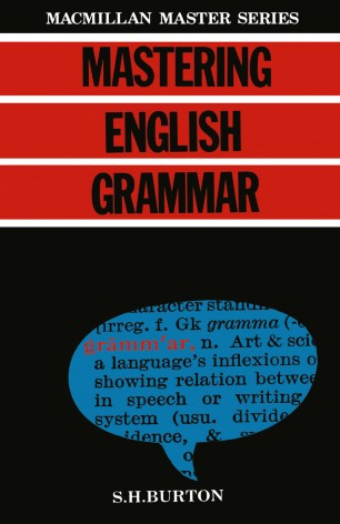 Mastering English Grammar | SpringerLink