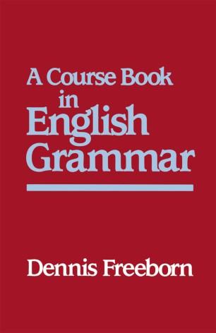 A Course Book in English Grammar | SpringerLink