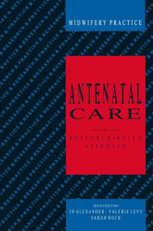Antenatal Care : A research-based approach