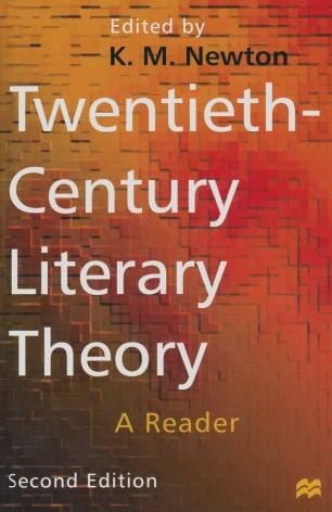 Twentieth Century Literary Theory Springerlink