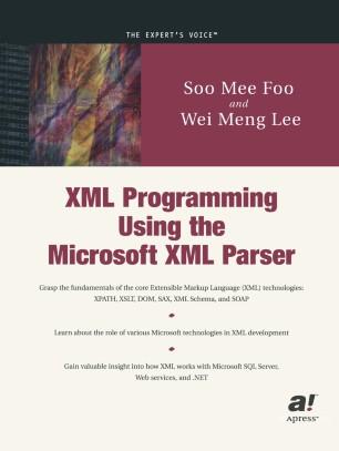 XML Programming Using the Microsoft XML Parser | SpringerLink