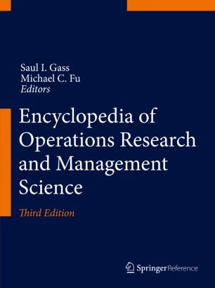 [Encyclopedia of Operations Research and Management Science]
