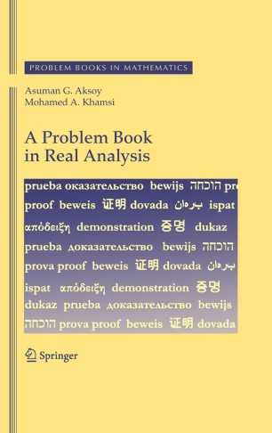 A Problem Book in Real Analysis | SpringerLink