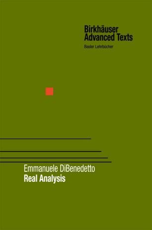 Real Analysis | SpringerLink