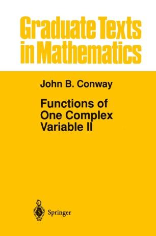 Functions of One Complex Variable II   SpringerLink