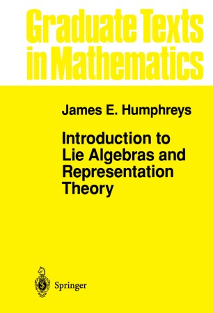 Introduction to Lie Algebras and Representation Theory | SpringerLink
