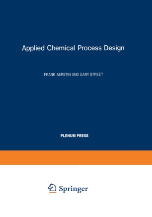 Applied Chemical Process Design | SpringerLink