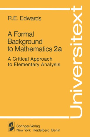A Formal Background to Mathematics 2a