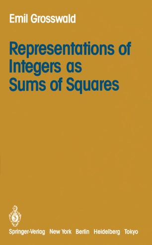 representations of integers as sums of squares grosswald
