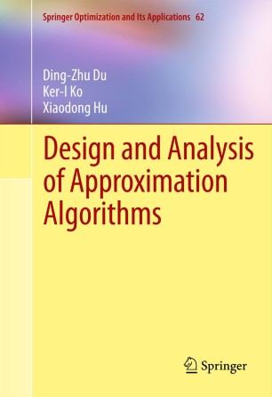 Design And Analysis Of Approximation Algorithms Pdf