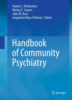 Handbook Of Community Psychiatry Springerlink