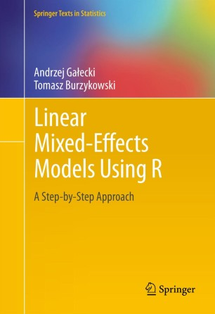 Linear Mixed-Effects Models Using R | SpringerLink