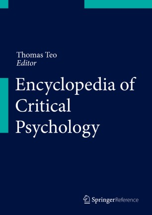 [Encyclopedia of Critical Psychology]