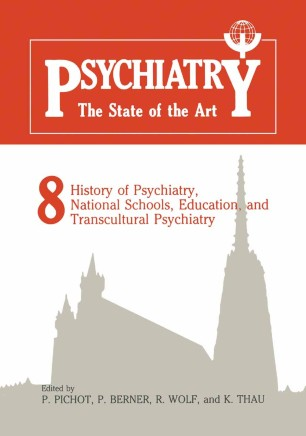 Psychiatry The State of the Art | SpringerLink