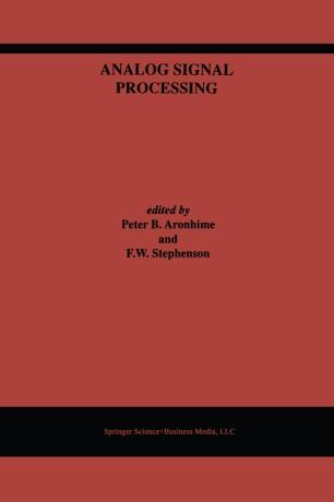 Analog Signal Processing Springerlink
