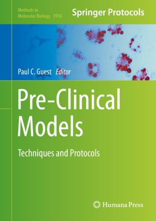 Pre-Clinical Models 2019 978-1-4939-8994-2