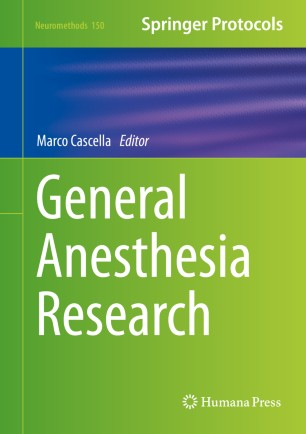 General Anesthesia Research 2020 978-1-4939-9891-3