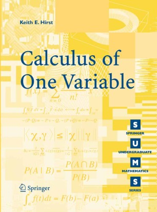 Calculus of One Variable | SpringerLink