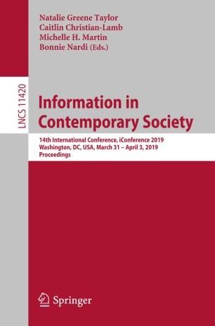 Information in Contemporary Society   SpringerLink