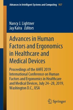 Advances Human Factors Ergonomics Healthcare 978-3-030-20451-8