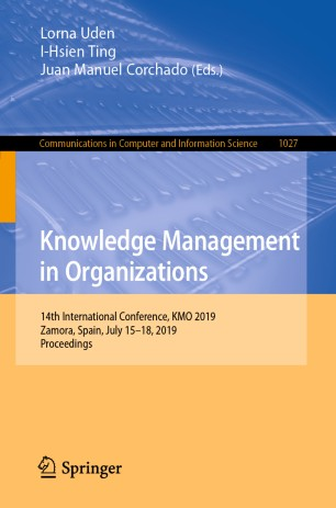 KMO 2019 | 14th International Conference On Knowledge Management In