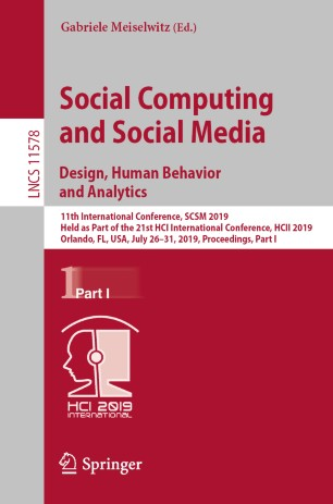Social Computing And Social Media Design Human Behavior And Analytics Springerlink