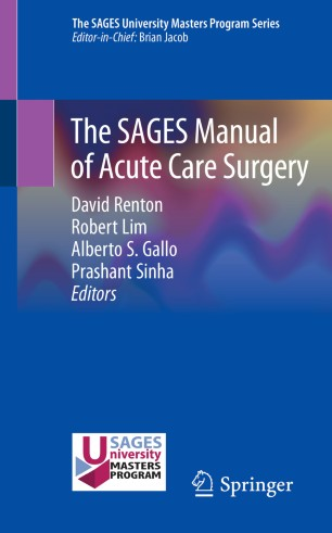 SAGES Manual Acute Care Surgery 978-3-030-21959-8