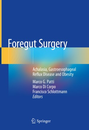 Foregut Surgery 2020 978-3-030-27592-1