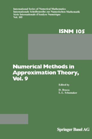 approximation theory and methods  Numerical Methods in Approximation Theory, Vol. 9 | SpringerLink