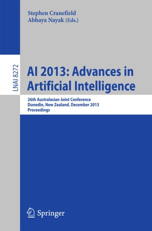 AI 2013: Advances in Artificial Intelligence