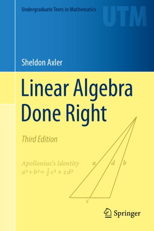 Linear Algebra Done Right | SpringerLink