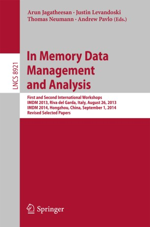 In Memory Data Management and Analysis