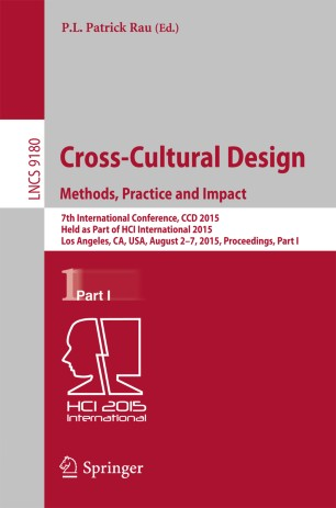Cross-Cultural Design Methods, Practice and Impact