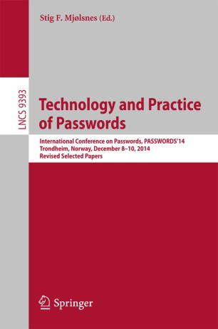Technology and Practice of Passwords