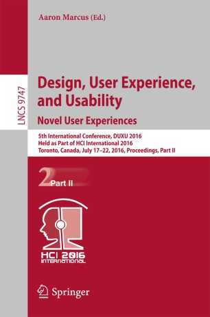 Design User Experience And Usability Novel User Experiences Springerlink