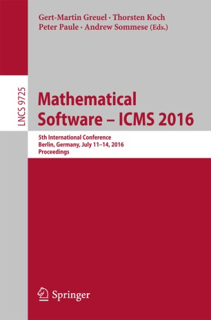 Mathematical Software – ICMS 2016