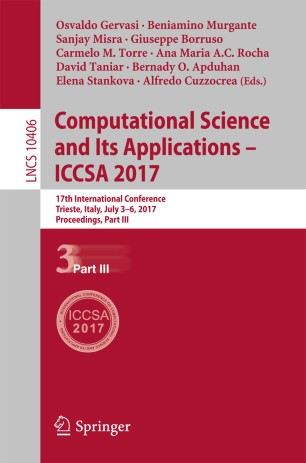 Computational Science and Its Applications – ICCSA 2017