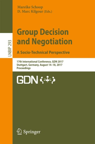 Group Decision and Negotiation. A Socio-Technical Perspective