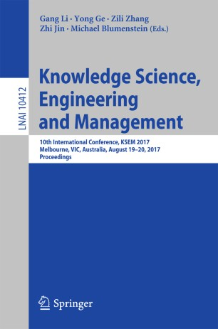 Knowledge Science, Engineering and Management