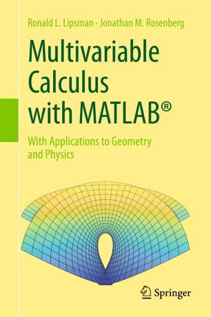 Multivariable Calculus with MATLAB® | SpringerLink