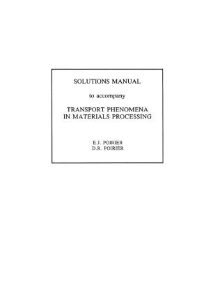 transport phenomena solutions manual pdf