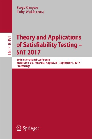 Theory and Applications of Satisfiability Testing – SAT 2017