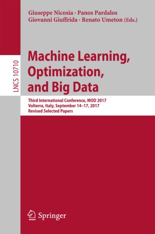 Machine Learning, Optimization, and Big Data | SpringerLink