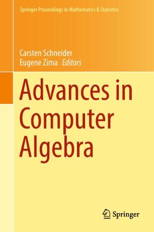 Advances in Computer Algebra