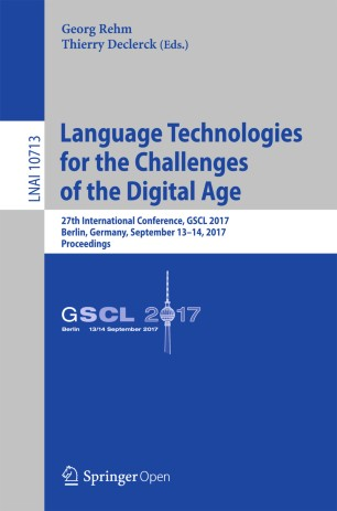 Language Technologies for the Challenges of the Digital Age | SpringerLink