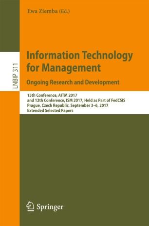 Information Technology for Management. Ongoing Research and Development
