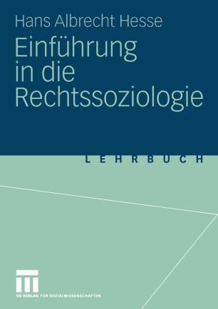 Einführung in die Rechtssoziologie