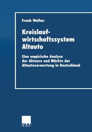 Kreislaufwirtschaftssystem Altauto