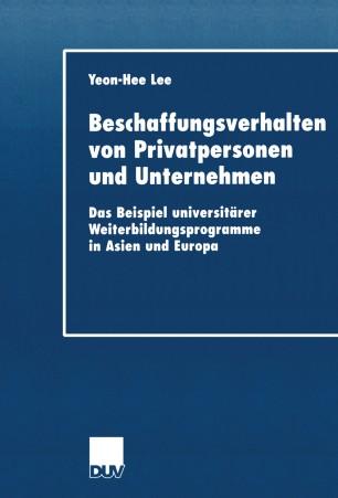 Beschaffungsverhalten von Privatpersonen und Unternehmen