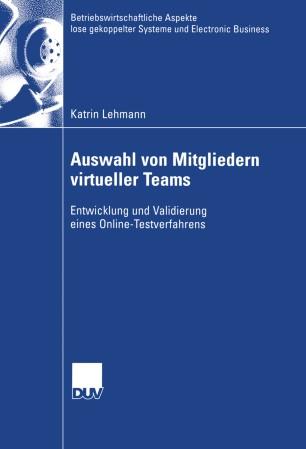 Auswahl von Mitgliedern virtueller Teams